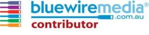 A bluewiremedia web strategy logo.