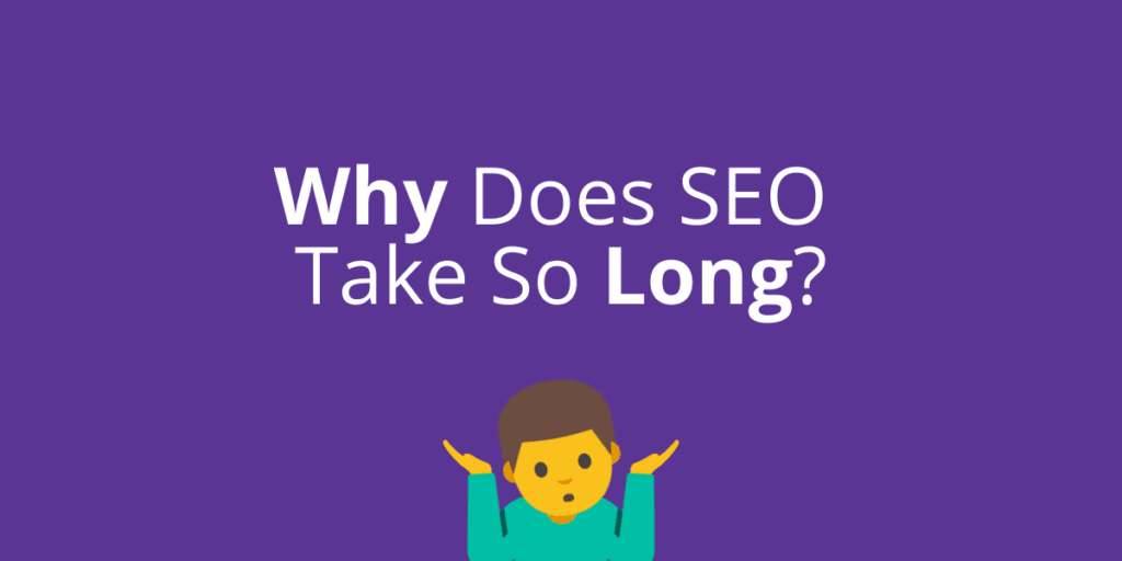 A purple blog post cover with an emoji man shrugging his shoulders.