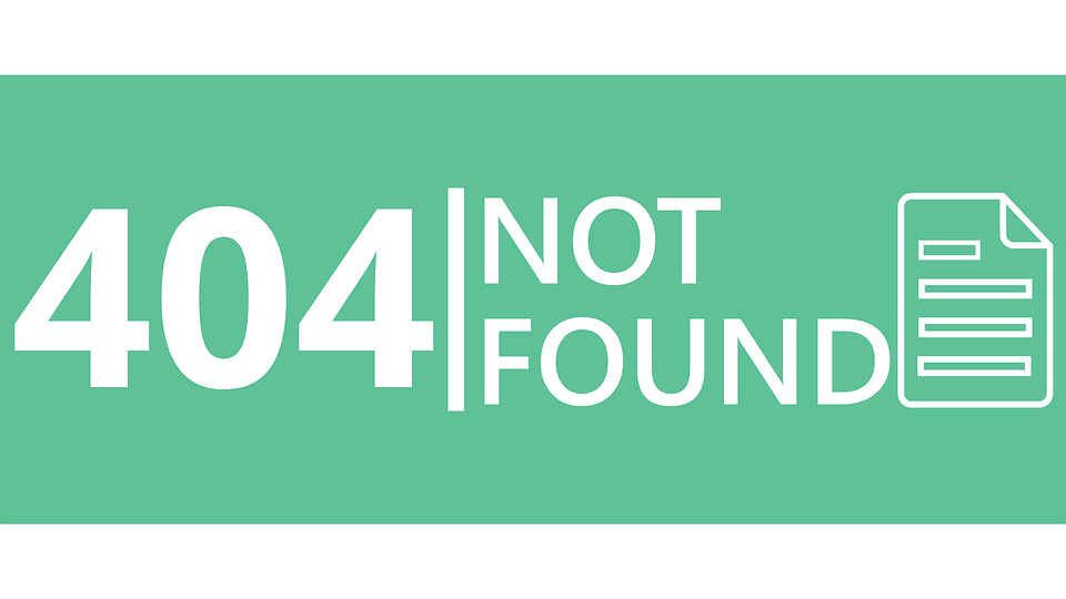 A green 404 not found page.