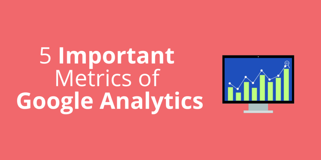 An image that contains the title of the blog as well as a blue computer screen with green Google Analytics charts that indicate growth.