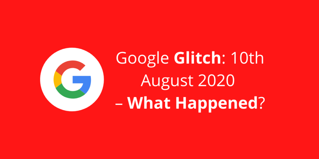 A blog post cover photo of our 'Google Update 2020' post, with a white Google icon.