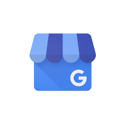 A blue Google My Business icon.