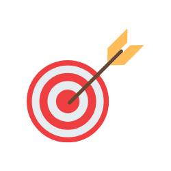A bullseye arrow board.