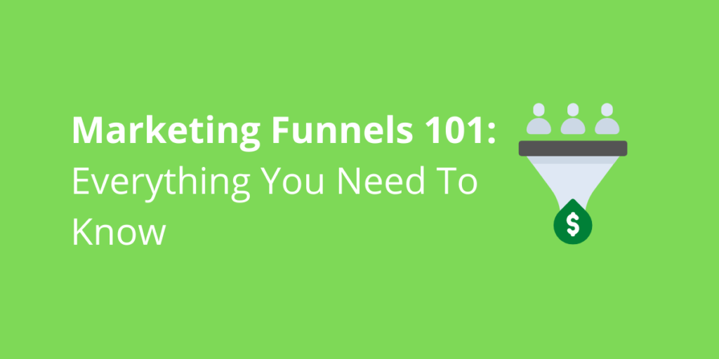 A blog post cover photo about marketing funnels, with a photo of a marketing funnel.