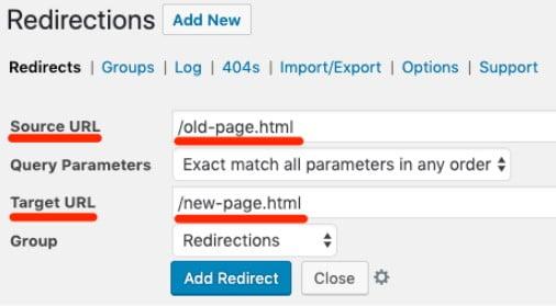 How to add 301 redirects through a WordPress plugin.