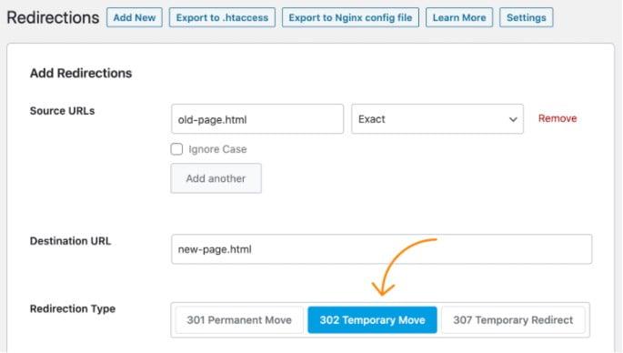 How to add 302 redirects through a WordPress plugin.