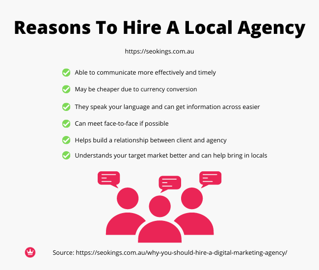 An infographic on why you should hire a local SEO agency for your marketing.