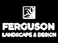 Ferguson Landscape & Design logo in white on a transparent background.